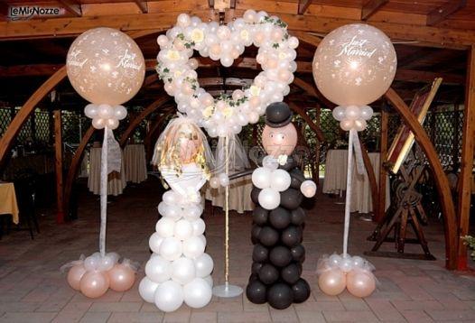 addobbo palloncino matrimonio