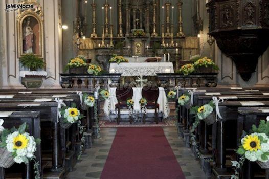 Addobbo Con Girasoli Matrimonio : Foto addobbi floreali chiesa e cerimonia addobbo