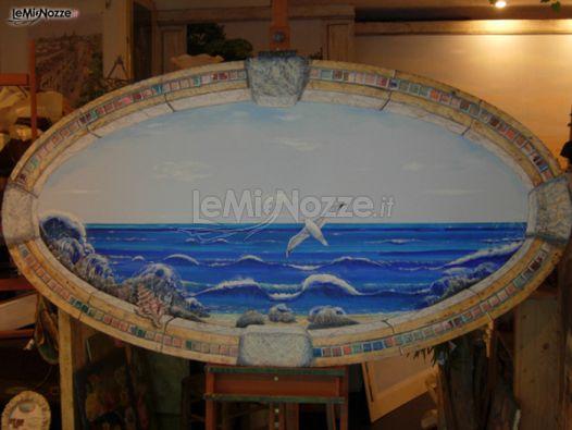 Dipinto trompe l 39 oeil per il tableau di matrimonio for Mobili 2000 avellino