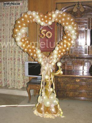 Cuore celebrativo per 50 anni di matrimonio melusina for Addobbi 25 anni di matrimonio