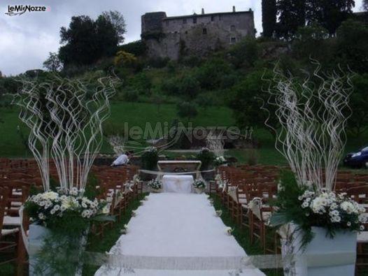 Matrimonio In Campagna : Foto addobbi per cerimonie all aperto allestimento