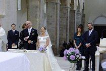 Gli sposi durante la funzione nuziale - Foto Marcello Melis in stile reportage