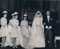 Foto della cerimonia di un matrimonio anni 50