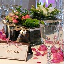 Allestimento dei tavoli per gli sposi curato da Masolino Creative Banqueting