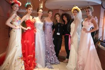 Modelle ad una sfilata sposa