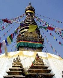 Visita al tempio di Swayambhunath durante la luna di miele organizzata da Prestige Italia