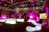 Arredi luminosi per il ricevimento di nozze realizzati da ELE light