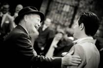Foto dello sposo con il padre di Video Studio Roberto Marchionne