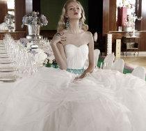 Sposa Diva: abito in tulle con ricamo di turchesi di Atelier Aimée Montenapoleone