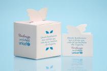 Box portaconfetti con bigliettino - Bomboniere per la vita UNICEF