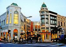 Rodeo Drive: zona di tendenza con negozi alla moda di Los Angeles