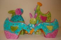 Bomboniere artigianali - Animaletti d'arredo decorati a mano