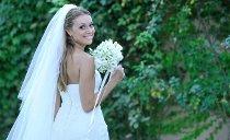 Scatto della sposa con il suo bouquet