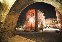 Borgo illuminato per il ricevimento di matrimonio curato da Wedding Weekend