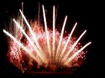Fuochi d'artificio ventagli dorati per il matrimonio creati da Pirotecnica Papa