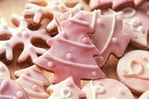 Biscotti a forma di albero di Natale realizzati da Debora Vena