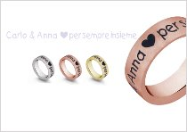 Fedi nuziali a fascia con l'incisione del nome e del cuoricino - TVB Forever by Artlinea
