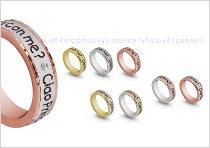 Fedi per il matrimonio personalizzate con diamanti e scritte - TVB Forever by Artlinea