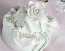 Torta di matrimonio total white creata da Debora Vena