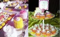 Allestimento Shabby Chic Style del tavolo dei dolci