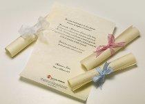 Pergamene per il matrimonio di Save the Children