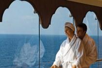 Gli sposi nel centro benessere della nave MSC Crociere