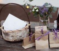 Bomboniere con semi di lavanda create da L&PM Eventi