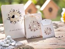 Sacchetto portaconfetti e semi di girasole da regalare agli invitati
