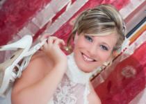 Foto della sposa sorridente scattata da Photostudio DM
