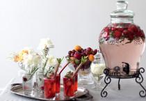 Cocktail alla frutta con cannuccia organizzato da Matrimoni da Sogno