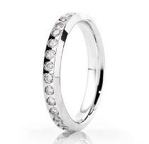 Fede in oro bianco e diamanti - Brillanti promesse by Unoaerre
