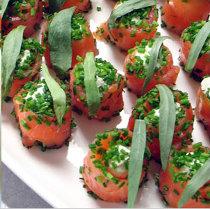 Salmone preparato dagli chef di Ville Romane Catering