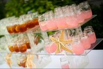 Monoporzioni di drink per la drink station realizzata da Matrimoni da Sogno