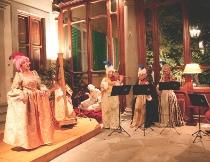 Orchestra Musica in Maschera con cantante lirico durante un matrimonio