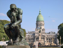 Buenos Aires Plaza Congreso Pensador de Rodin