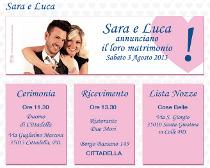 Sito web della coppia con le info delle nozze