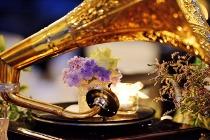 Grammofono come centrotavola per un matrimonio anni '20
