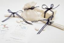 Pergamena, sacchetto e scatolina porta confetti Compassion Italia Onlus