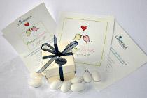 Scatolina porta confetti con pergamena Compassion Italia Onlus