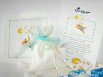 Bomboniere per il battesimo con disegnini sulla pergamena - Compassion Italia Onlus