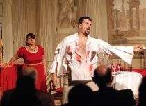 Opera lirica durante il ricevimento a cura di Villa InCanto