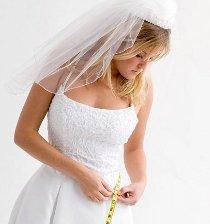 Sposa che prende le sue misure