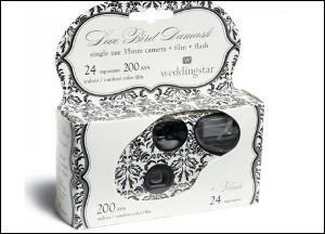 Macchinetta fotografica bianca e nera damascata - € 5,40