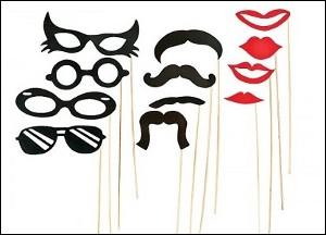 Mascherine divertenti per Photo Booth - € 13,40