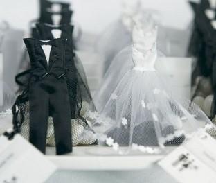 Sacchetti portaconfetti sposa e sposo - 24 pezzi € 43,20