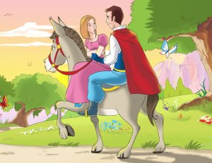 Fotogramma del video di matrimonio cartoon