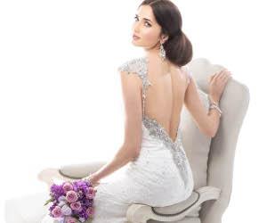 Abito da sposa con scollatura gioiello sul retro - Maggie Sottero Mod. Brandy