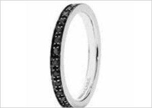 Fede nuziale con diamanti neri - Unoaerre