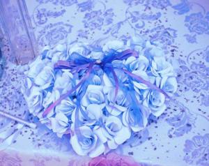 Cuscino porta fedi di carta a forma di cuore - Daniela Paper Wedding and... more