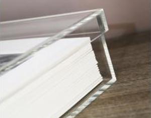 Raccoglitore in plexiglass per l'album di matrimonio